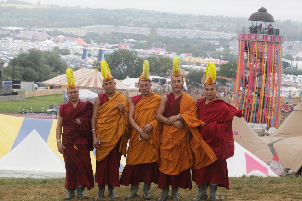 Monks at Glastonbury