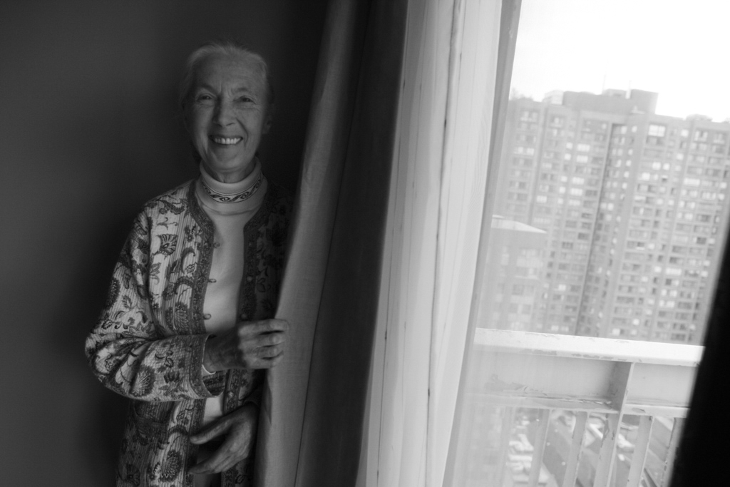 Activist Jane Goodall poses for a photograph