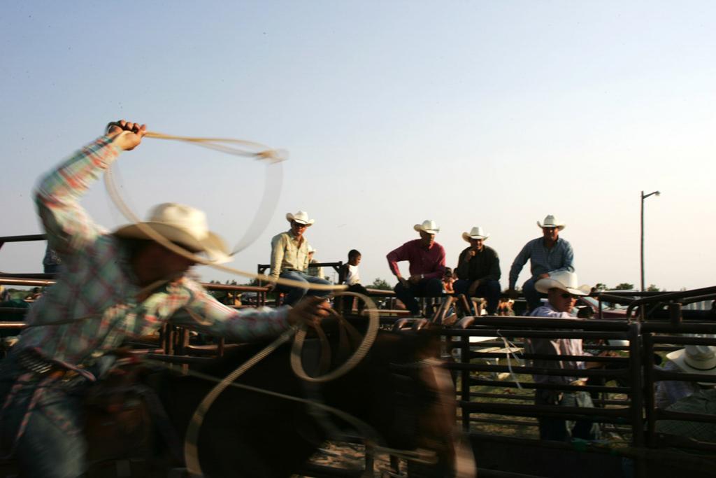 Amateur rodeo in Saskatchewan, Canada
