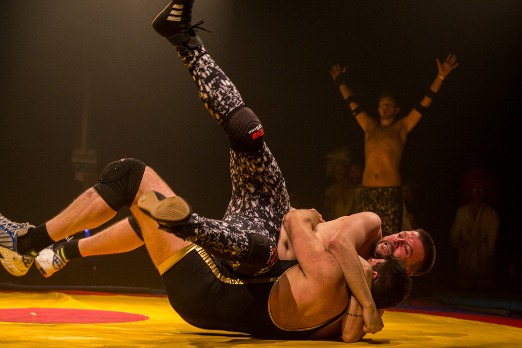 Amateur wrestlers during a charity event for Temwa, Bristol, United Kingdom